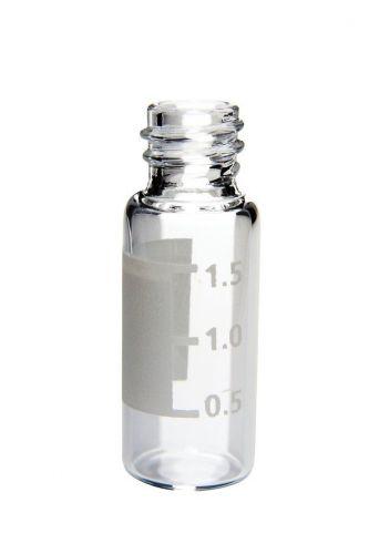 Autosampler vial 1.5 ml, hacim çizgisi, yazı yazma yeri, geniş ağız